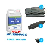 Pack Hivernage, kit complet pour piscine 8m x 4m avec 18 Flotteurs